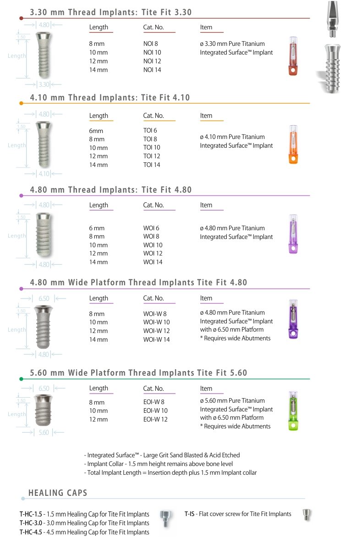 TITE FIT™ - Internal Octagon & Mors Taper Implants