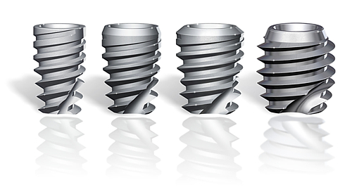 SHORT LOGIC CONICAL CONNECTION IMPLANTS IN DIAMETERS 3.5mm to 6.0mm